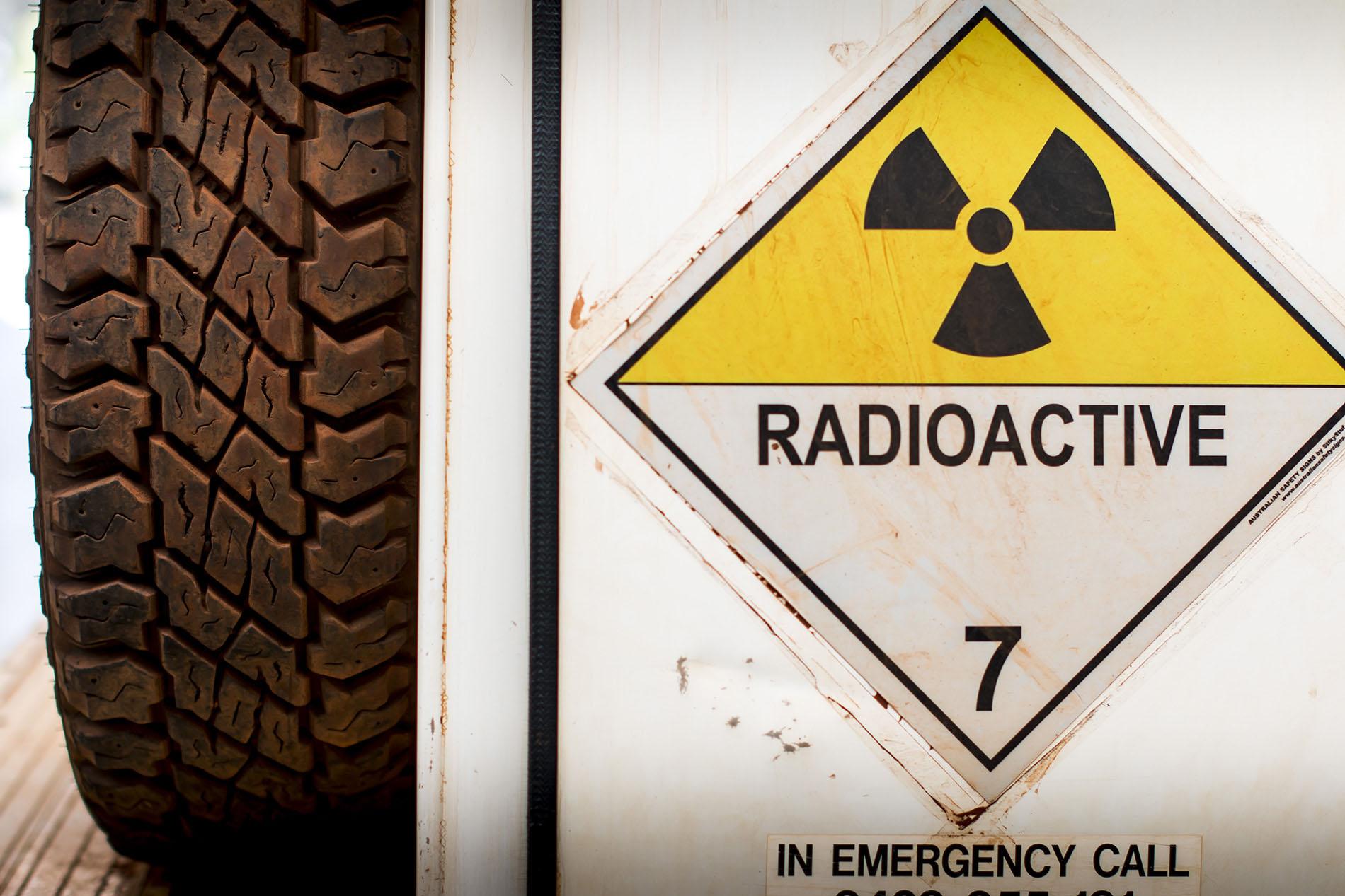Wireline Services Radioactive Sign